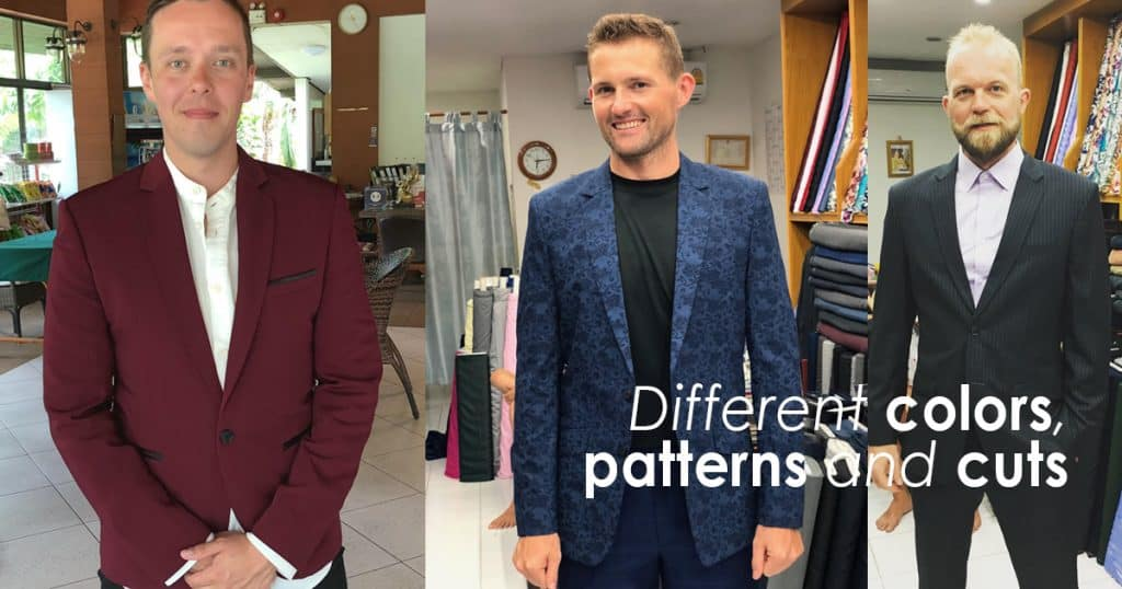 Different Colors, - Pattern and Fabrics