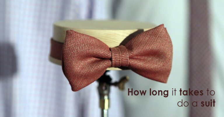 How long it takes to do a suit?