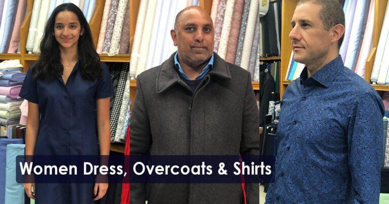 Women Dresses, Overcoats & Shirts