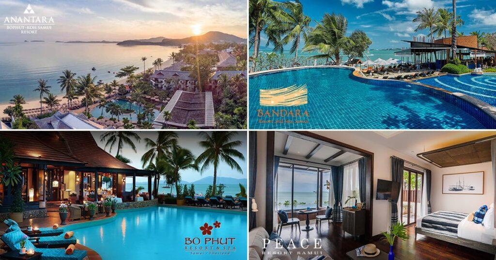 Hotels on Bophut Beach, Koh Samui